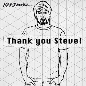 "Illustration Artsmoto-Shirt ""Thank You Steve!"""